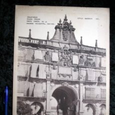 Coleccionismo: FOTOGRAFIA - SALAMANCA - PLAZA MAYOR - FACHADA OCCIDENTAL - 39X29CM - CIRCA 1890. Lote 106187019