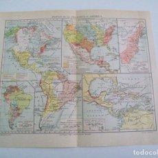 Coleccionismo: LAMINA ESPASA 5502: MAPAS DE LA HISTORIA DE AMERICA. Lote 106246380
