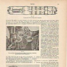 Coleccionismo: LAMINA ESPASA 5375: MOTOR DIESEL-SULZER. Lote 106347782
