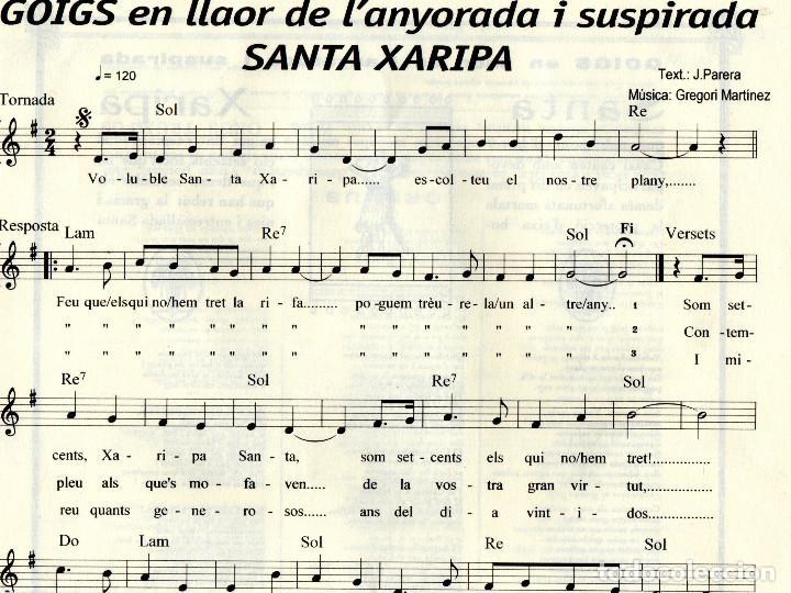 Coleccionismo: GOIGS EN LLAOR DE L'ANYORADA I SUSPIRADA SANTA XARIPA - Foto 2 - 106734327