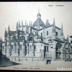 Coleccionismo: FOTOGRAFIA - SEGOVIA - CATEDRAL - LADO ORIENTAL - 36X27,5CM - CIRCA 1890. Lote 107036555