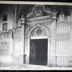 Coleccionismo: FOTOGRAFIA - TOLEDO - CATEDRAL- PUERTA DE LA CONCEPCION 38X29CM - CIRCA 1890 - GRAN FORMATO. Lote 107119787