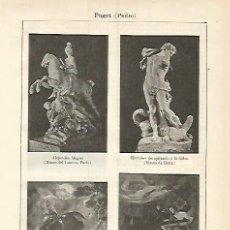 Coleccionismo: LAMINA ESPASA 3769: ESCULTURAS HECHAS POR PEDRO PUGET. Lote 107307728