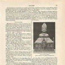 Coleccionismo: LAMINA ESPASA 24237: URNA DE SAN PALADIO EN CAMPRODON. Lote 107449951