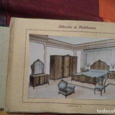 Coleccionismo: MUESTRARIO MUEBLES AÑOS 1940 27 LAMINAS ORIGINALES DE LA EPOCA. Lote 107451151