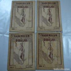 Coleccionismo: VADEMECUM DE DIBUJO. LOTE DE 4 CARPETAS CON LAMINAS. FIGURA I, II, III Y IV - EDITORIAL SALVATELLA. Lote 107459251