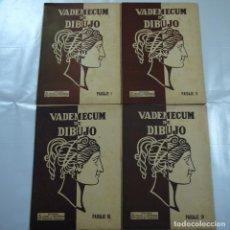 Coleccionismo: VADEMECUM DE DIBUJO. LOTE DE 4 CARPETAS CON LAMINAS. PAISAJE I, II, III Y IV - EDITORIAL SALVATELLA. Lote 151623068