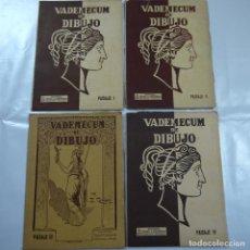 Coleccionismo: VADEMECUM DE DIBUJO. LOTE DE 4 CARPETAS CON LAMINAS. PAISAJE I, II, III Y IV - EDITORIAL SALVATELLA. Lote 107459923
