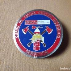 Coleccionismo: PLACA CURSO INCENDIOS SERVICOIN PARA VIGILANTES DE SEGURIDAD. Lote 229774705