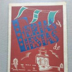 Coleccionismo: FERIAS Y FIESTAS VALLS SANTA URSULA PROGRAMA 1957. Lote 107826623