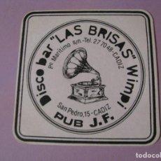 Coleccionismo: POSAVASOS DISCO BAR LAS BRISAS. CADIZ.. Lote 107979631
