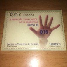 Coleccionismo: IMAN NEVERA CONTRA VIOLENCIA GÉNERO CORREOS. Lote 108314188
