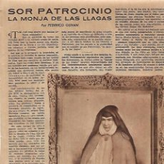 Coleccionismo: AÑO 1952 RECORTE PRENSA SOR PATROCINIO MONJA DE LAS LLAGAS PUBLICIDAD CHLORODONT PELETERIA HUDSON. Lote 108412283