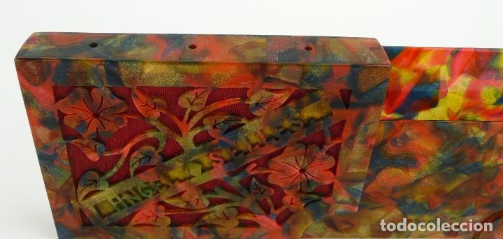 Coleccionismo: Antigua pitillera para cigarros de celuloide decoración floral - Principios S.XX - Foto 4 - 108708983