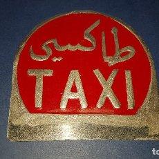 Coleccionismo: PLACA METALICA TAXI TANGER. Lote 108845291