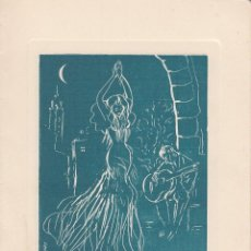 Coleccionismo: TARJETA: MUJER BAILANDO. D´ALUART. Lote 109162283
