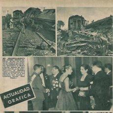Coleccionismo: AÑO 1952 RECORTE PRENSA ACCIDENTE TREN CORREO MADRID SEVILLA DESCARRILAMIENTO VADOLLANO JAEN. Lote 109191167