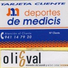 Coleccionismo: TARJETAS IDENTIFICACION ,CONTROL -FABRICANTE ESPAÑA DEPORTES DE MEDICIS 024. Lote 109296791