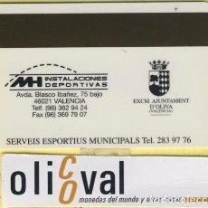 Coleccionismo: TARJETAS IDENTIFICACION ,CONTROL -FABRICANTE ESPAÑA EXCM AJUNTAMENT D´OLIVA VALENCIA 026. Lote 109298099