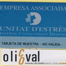 Coleccionismo: TARJETAS IDENTIFICACION ,CONTROL -FABRICANTE ESPAÑA UNITAT D´ESTRÈS 031. Lote 109301023