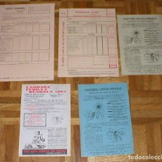 Coleccionismo: LOTE 5 PAPELES PUBLICIDAD ORIG. 1960S CAMPAÑA CERILLA BENGALA Y HOJAS PEDIDO TABACO AGUILA TINERFEÑA. Lote 109303431