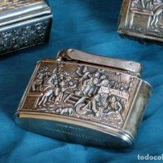 Coleccionismo: BONITO SET DE FUMADOR ALEMÁN - BAÑO DE PLATA - MYLFLAM - GERMANY - CAJAS DE TABACO - ENCENDEDOR. Lote 109644671