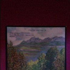 Colecionismo: EXCELENTE LITOGRAFIA PAPEL SECANTE GRAFICAS LERCHUNDI. BILBAO. AÑOS 50. Lote 109938479