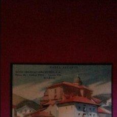 Colecionismo: EXCELENTE LITOGRAFIA PAPEL SECANTE GRAFICAS LERCHUNDI. BILBAO. AÑOS 50. Lote 109939103