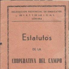 Coleccionismo: MALDA ( LLEIDA ) ESTATUTOS DE LA COOPERATIVA DEL CAMPO A.1945. Lote 110160739