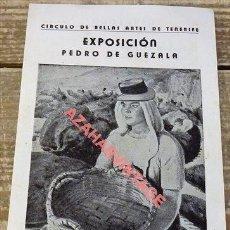 Collectionnisme: TENERIFE,1945, PROGRAMA EXPOSICION DE PINTURA DE PEDRO DE GUEZALA, 1 HOJA. Lote 110568939
