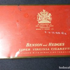 Coleccionismo: CAJETILLA METALICA DE TABACO BENSON AND HEDGES. Lote 110683403