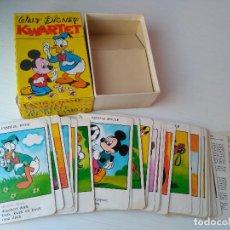 Coleccionismo: ANTIGUA BARAJA CARTAS DISNEY MICKEY MOUSE DONALD JUEGO FAMILIAS ALEMÁN RARA!!!!. Lote 110750963
