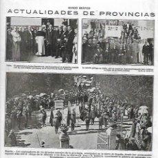 Coleccionismo: AÑO 1918 RECORTE PRENSA MURCIA EXPLORADORES DE DIVERSOS CONCEJOS SIERRA DE ESPAÑA. Lote 111072963