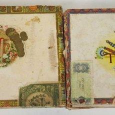 Coleccionismo: PAREJA DE CAJA DE PUROS. MARTINEZ Y ROMEO Y JULIETA. LA HABANA. SIGLO XX. . Lote 111694663