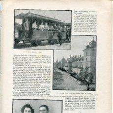 Coleccionismo: L-LAMINA-1902-LOGROÑO CUARTEL DE INGENIEROS-MADRID TRANVÍA A VAPOR AL PARDO.. Lote 111722987