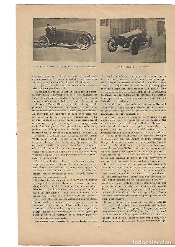 año 1906 recorte prensa anatomia del automovil - Comprar Documentos ...