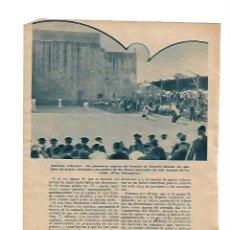 Coleccionismo: AÑO 1934 RECORTE PRENSA DEPORTES VASCOS DURANGO VIZCAYA FRONTON EZKURDI PELOTA VASCA . Lote 111770343