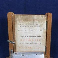 Coleccionismo: PUBLICIDAD TRAMPILLA PUERTA MONTAJE BURMATIC BURLETE AUTOMATICO BAJO PUERTA PUERTAS SALGA CALOR 24CM. Lote 112321727
