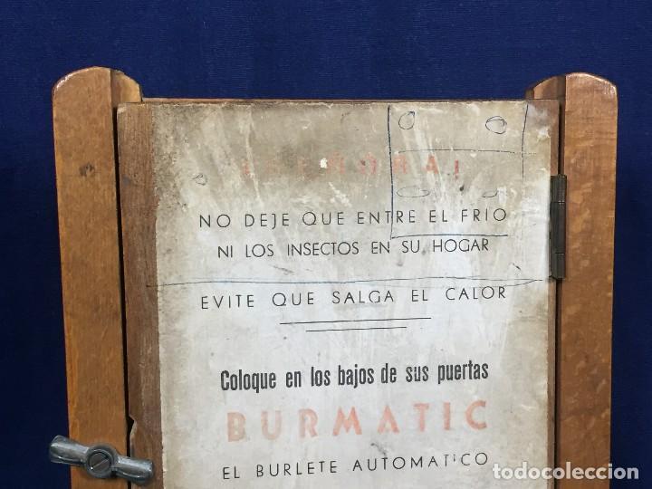Coleccionismo: publicidad trampilla puerta montaje burmatic burlete automatico bajo puerta puertas salga calor 24cm - Foto 2 - 112321727