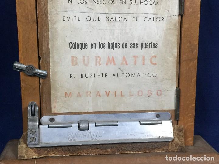 Coleccionismo: publicidad trampilla puerta montaje burmatic burlete automatico bajo puerta puertas salga calor 24cm - Foto 3 - 112321727