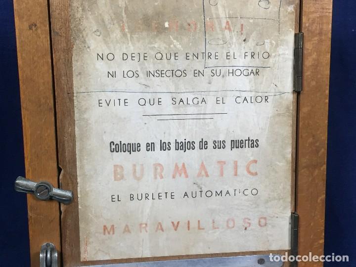 Coleccionismo: publicidad trampilla puerta montaje burmatic burlete automatico bajo puerta puertas salga calor 24cm - Foto 4 - 112321727
