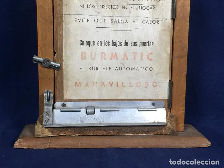 Coleccionismo: publicidad trampilla puerta montaje burmatic burlete automatico bajo puerta puertas salga calor 24cm - Foto 5 - 112321727
