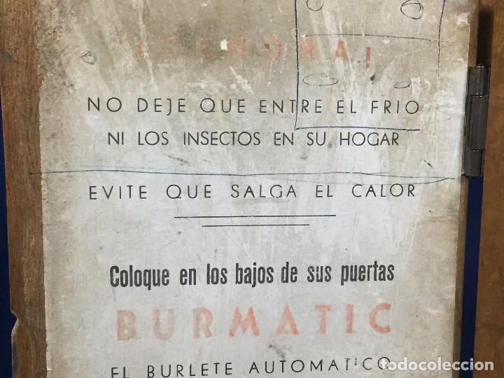 Coleccionismo: publicidad trampilla puerta montaje burmatic burlete automatico bajo puerta puertas salga calor 24cm - Foto 13 - 112321727