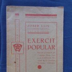 EXERCIT POPULAR.Edicions Juventut.1937.Discurs a la conferencia Nacional de Joventuts Socialistes.
