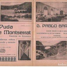 Coleccionismo: AÑO 1910 PUBLICIDAD BAÑOS LA PUDA DE MONTSERRAT PABLO GARRIGA BALNEARIO AGUAS MINERO MEDICINALES. Lote 112908063