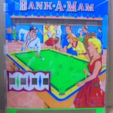 Coleccionismo: FRONTAL DE PIN-BALL. PINBALL. DIBUJO DE BANK-A-MAM. ORIGINAL. IDEAL PARA DECORACION. 52 X 60CM. Lote 112978723