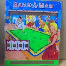 Coleccionismo: FRONTAL DE PIN-BALL. PINBALL. DIBUJO DE BANK-A-MAM. ORIGINAL. IDEAL PARA DECORACION. 52 X 60CM. Lote 112978799