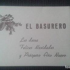 Coleccionismo: FELICITACION DE NAVIDAD. EL BASURERO. AGUINALDO.. Lote 112987939