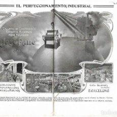 Coleccionismo: AÑO 1915 PUBLICIDAD JOSE PANE TALLER CONSTRUCCION MAQUINARIA PARA MOLINERIA HARINAS CALLE GLORIAS . Lote 113357435