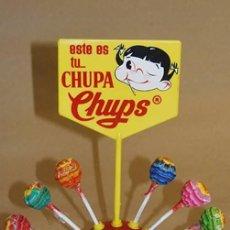 Coleccionismo: PRIMER EXPOSITOR DE CHUPA CHUPS. ORIGINAL DE 1963 Y SIN ESTRENAR. 1 PESETA. Lote 113384075